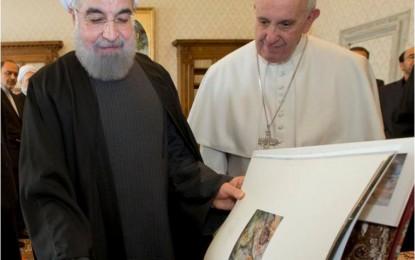 Papa Françesku me Presidentin e Iranit Hassan Rouhani sot në Vatikan