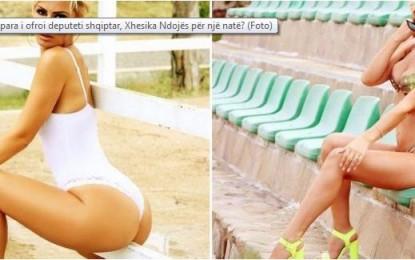 Ja sa para i ofroi deputeti shqiptar, Xhesika Ndojës për një natë