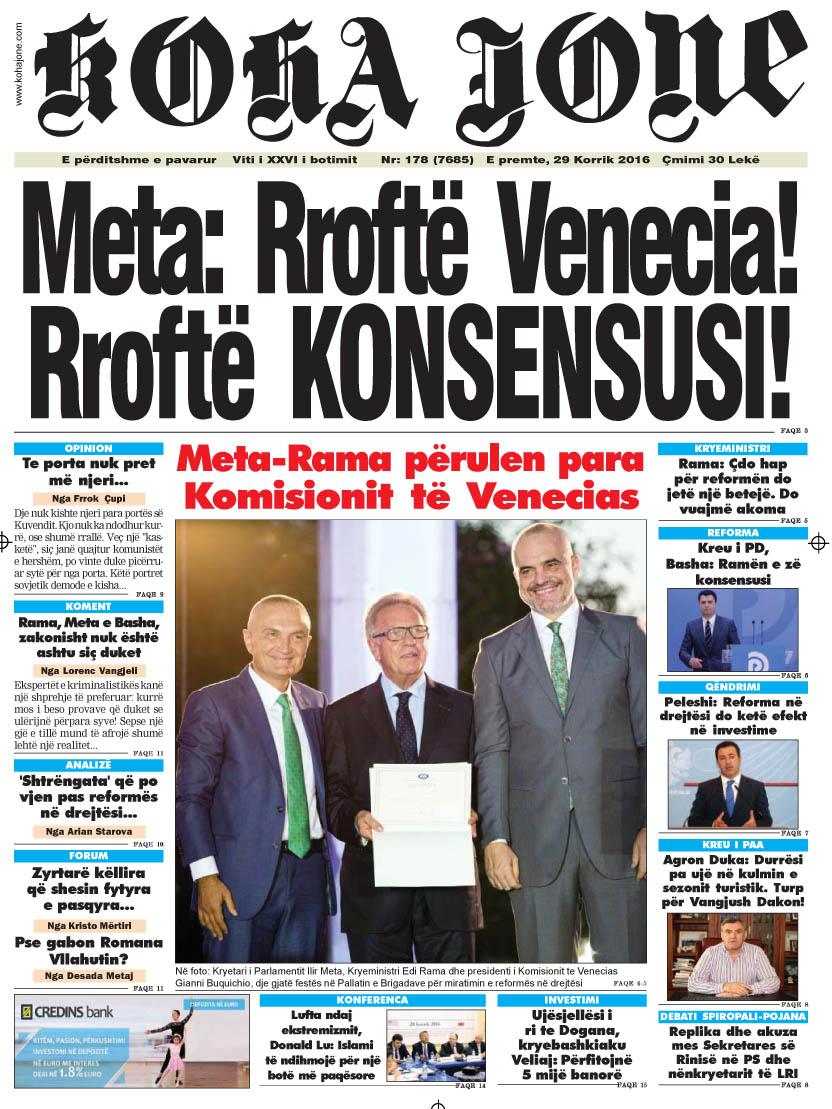 Gazeta kohajone sot 15 qerhor 2016