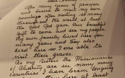Letra e rrallë e Nënë Terezës, dërguar Ramiz Alisë!