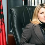 Albania's new Prosecutor General Ina Rama, 35, poses in her office, Friday Nov 23 2007. Albanian President Bamir Topi signed a decree 22 November 2007 to confirm the sacking of the country's attorney general over alleged corruption as lawmakers approved a woman judge for the post. The parliament voted earlier this month to dismiss attorney general Theodhori Sollaku over allegations by Prime Minister Sali Berisha of links to organised crime and violations of the constitution (AP Photo/Hektor Pustina)
