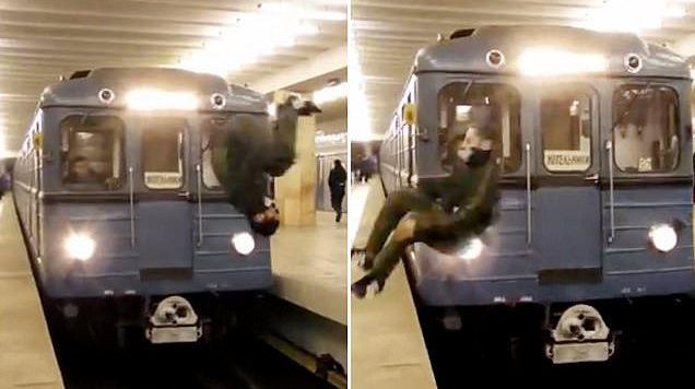 I riu bën çmendurinë, hidhet para trenit që ishte në lëvizje