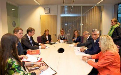 Zyrtare/ Bisedimet me Serbinë, Thaçi e Mustafa pjesë e takimit në Bruksel