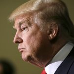 Republican presidential candidate Donald Trump speaks during a news conference, Tuesday, Aug. 25, 2015, in Dubuque, Iowa. (AP Photo/Charlie Neibergall)