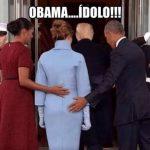 Obama prek tek të pasmet Melania Trump? Ja e vërteta