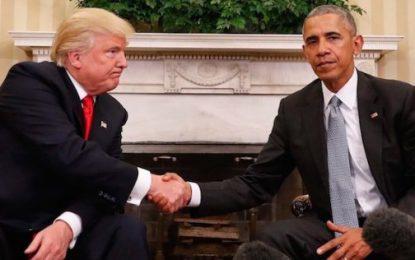 Video/ Çfarë shkruhet në letrën që Obama la për Presidentin Trump?
