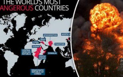Këto janë 10 vendet më të rrezikshme në botë (Harta)