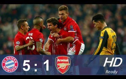 Fitoret e thella të gjermanëve, Bayern tallet me Arsenalin në internet