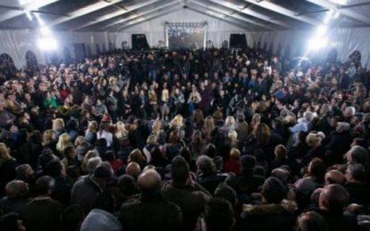 Protestuesit në çadrën e PD ia marrin këngës 'vënçe' me iso labe (VIDEO)