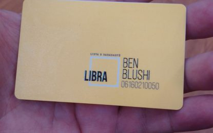 Ben Blushi: LIBRA në zgjedhje, e vetme