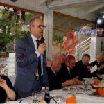 """Ish-anëtari i Byrosë Politike në tribunën e nderit të """"Rilindjes"""". Reagon PD"""