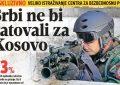 Serbët nuk duan të luftojnë për Kosovën