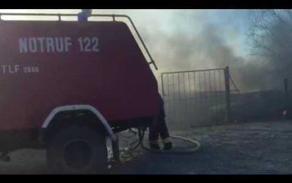 VIDEO/Zjarr masiv, digjen makinat në Milot