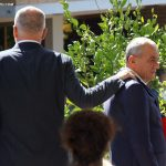Kryeministri Edi Rama dhe Gramoz Ruci, pas nje mbledhje te Asamblese se Partise Socialiste, ku eshte folur mbi reformat e ndermarra nga qeveria./r/n/r/nPM Edi Rama and Gramoz Ruci, after a meeting of the Assembly of the Socialist Party, where is spoken about reforms undertaken by the government.