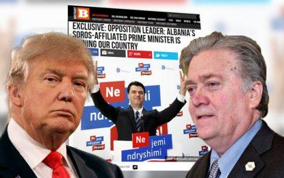 """""""Breitbart News"""", Media e Trump: Rama dhe Soros po shkatërrojnë Shqipërinë"""