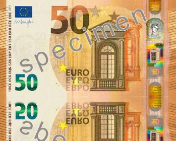 Më 4 prill del në treg kartëmonedha e re 50 euro, ja si do jetë prerja e saj