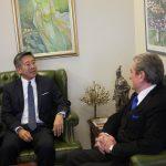 Basha në SHBA, Ambasadori Lu te Berisha
