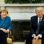 Merkel dhe Trump nuk shtrëngojnë duart në zyrën ovale – Video