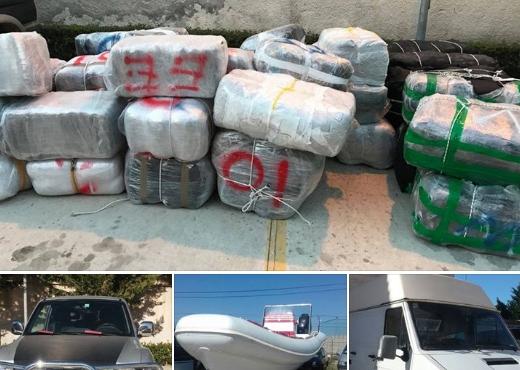 1.3 ton drogë në Vlorë, trafikantët falë errësirës i shpëtojnë policisë