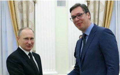 Takimi me Putinin – Vuçiç: Futemi në BE, por ruajmë lidhjet me Rusinë