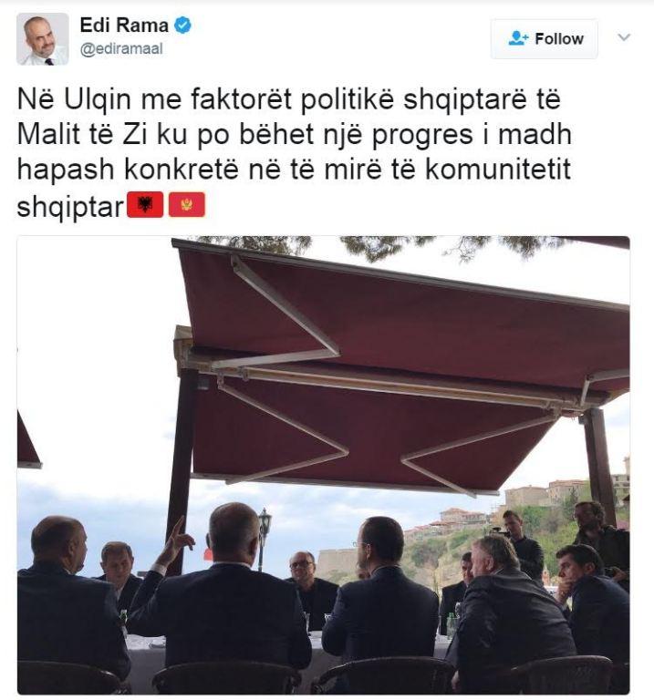 Edi Rama: Progres i komunitetit shqiptar në Mal të Zi