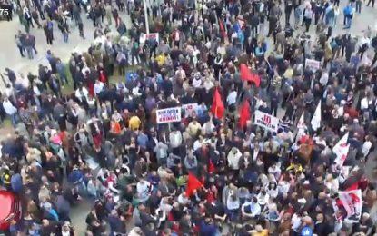 """VIDEO/Protesta e PD në sheshin """"Shqiponja"""""""