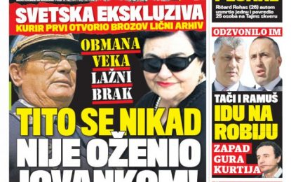"""""""Kuriri"""" serb: Haradinaj e Thaçi, shkojnë në burg"""