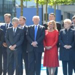 Heads of State and Government attending the dedication of the 9/11 and Article 5, and Berlin Wall Memorials