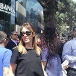 Majlinda Bregu në protestën e PD