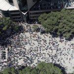 Foto të marra nga disa media për protestën