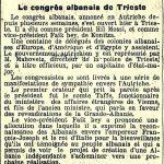 """""""Le temps"""", viti  1913/""""Kongresi shqiptar i Triestes dhe propozimi i krijimit të Shqipërisë"""""""