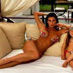 Claudia Galanti pozon së bashku me vajzën e saj 5-vjeçare