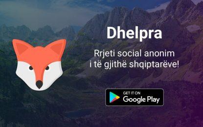 Dhelpra, rrjeti i parë social anonim shqiptar