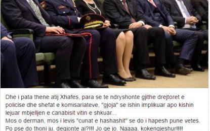 """""""Mos u kruaj me çunat e drogës o Fatmir Xhafa!""""- """"Nuk pyes, do ti arrestoj!"""""""