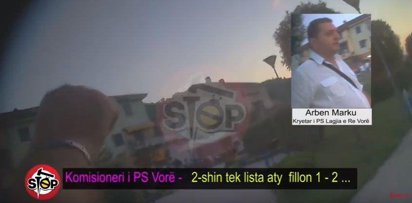 Skandal/ Komisioneri i PS filmohet në makinë duke dhënë lekë për vota