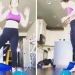 Burri përpiqet të imitojë gruan duke bërë stërvitje, e pëson keq