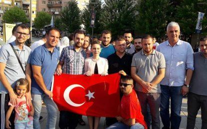 Tubim në mbështetje të Erdoganit në Prishtinë