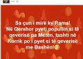 Aleati i Bashës: Rama po na pyet si të qeverisim me Bashën