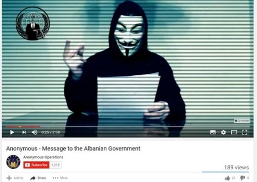 """""""Të bëhen gati këto televizione"""", vjen kërcënimi i radhës nga """"Anonymous Albania"""""""