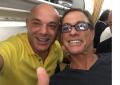"""Blendi Fevziu """"kap"""" në avion Jean Claude Van Damme"""