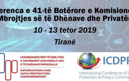 Shqipëria, organizatore e konferencës së 41-të botërore të komisionerëve të mbrojtjes së të dhënave