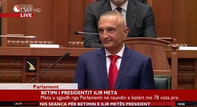 Betimi dhe marrja e detyrës së Presidentit nga Ilir Meta (FOTO-VIDEO)