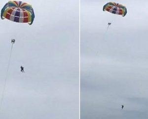 Pushimet përfundojnë në tragjedi, turisti bie për vdekje nga parashuta (VIDEO)