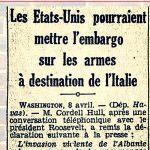 1939: Kur SHBA do sulmonin Italinë për shkak të pushtimit të Shqipërisë