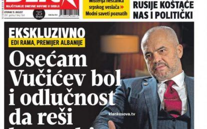 Rama: Raportet Tiranë-Beograd, më të mira se kurrë. Serbia të njoh Kosovën