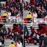 FOTO  Tifozi rrëzohet nga shkallët teksa festonte golin e Jese