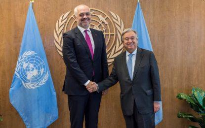 Rama takon shefin e OKB-së. Diskutohet mbi situatën politike në Ballkan