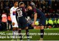 Neymar ndëshkohet nga trajneri i PSG