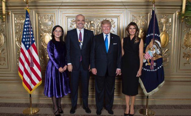 Presidenti i SHBA Donald Trump takon zyrtarisht kryeministrin Edi Rama