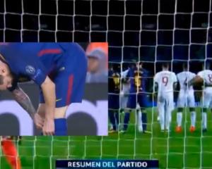 VIDEO/ Konsumoi ilaç? Shikojeni çfarë nxori Messi nga çorapet në ndeshjen e Championsit